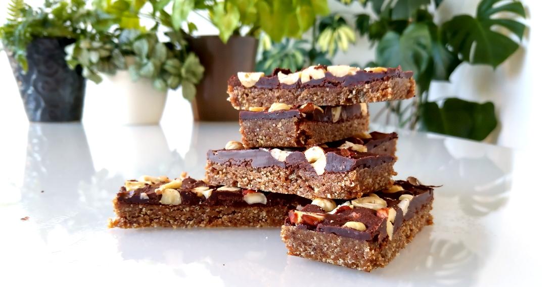 'Nutella' granolarepen met chocoladefudge